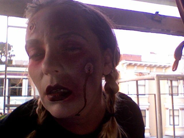Me, victim of a zombie encounter or just up all night?